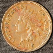 1886 Indian Head Cent - Type 1 - Free Shipping Usa