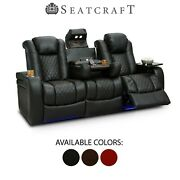 Seatcraft Anthem Leather Home Theater Seating Sofa Recliner Seat Chair Couch