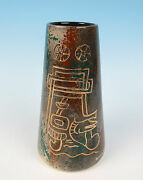 Marc Bellaire California Pottery Modernist Tiki Vase Mid-Century Modern CA MCM