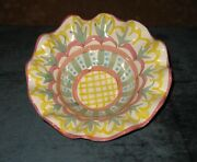 """MACKENZIE CHILDS MADISON 8 1/2"""" CEREAL BOWL TAYLOR COLLECTION"""