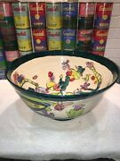 Large studio ceramic art Pottery bowl by Holly Sears  (listed MA artist)