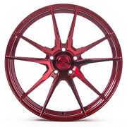 20 Rohana Rf2 Gloss Red Concave Wheels For Dodge