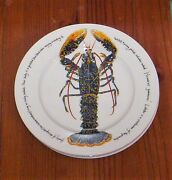 RICHARD BRAMBLE by Jersey Pottery  Sea Food Dinner Plate -  Lobster  12""