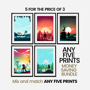 Money Saving Offer - 5 X Prints Of Your Choice - Choose Your Size - Movie Poster
