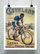Cleveland Cycles 1901 Vintage Bicycle Advertising Poster Canvas Giclee 24x32 In.