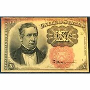 10 Cent U.s. Fractional Currency Note - William Meredith - Free Shipping Usa