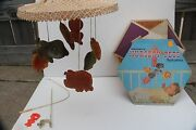 Kenners Vintage Nursery Mobile 1965 Pets Made In Usa Baby Decor Crib Lion Rabbit