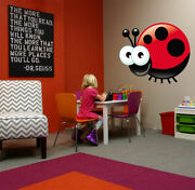 Ced187 Full Color Wall Decal Sticker Funny Animals Ladybug Bedroom Kids Nursery