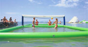 105m Outdoor Inflatable Volleyball Court For Water Or Beach Game With Air Pump