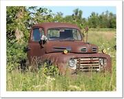 Old Antique Rusted Truck Art Print Home Decor Wall Art Poster - C