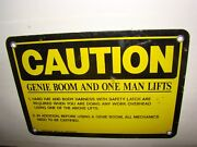 Emed Co. Xs58561 Heavy Duty Metal Genie And One Man Lifts Sign Used