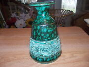 "Unusual 5"" STUDIO Art Pottery Green Vase"
