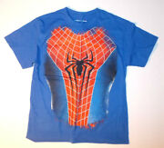 The Amazing Spiderman 2 Boys T-shirts Spider Web Spider Sizes 14-16 Or 18 Nwt