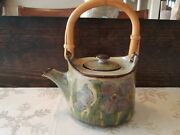 Vintage CHELSEA POTTERY ENGLAND Handcrafted Handpainted Art Pottery TEAPOT