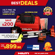 Hilti Pmc 46 Laser Level. Great Condition Free T-shirt Extras Fast Ship