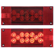 Led Low Profile Waterproof Over 80 Inch Wide Boat Trailer Tail Light Set