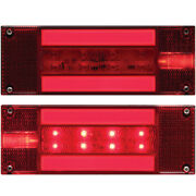 Led Glolight Low Profile Waterproof Over 80 Inch Boat Trailer Tail Light Set