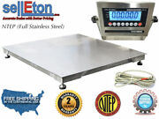 Ntep 36 X 36 3and039 X 3and039 Floor Scale Fixed Top Stainless Steel Washdown 2000 Lbs