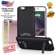 Iphone 6 6s 7 Plus 5 5s Battery External Power Bank Charger Case Charging Cover