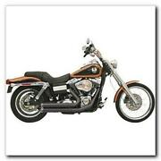 Bassani Fire Power Black Exhaust Harley Dyna 2006 Black Fluted Tips Pipes Fxd