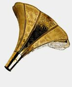 Gramophone Brass Embossed Horn Full Size Collectable Ornament Retro