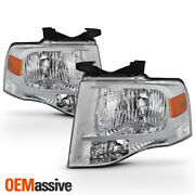 Fit 2007-2014 Ford Expedition Headlights Pair Replacement Light Left+right 07-14