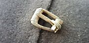 Rare Little Intact Medieval Bronze Buckle From Old Collection 1950s L59t
