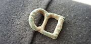 Very Rare Beautiful Little Medieval Bronze Buckle From Old Collection 1950s L54g