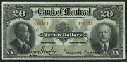 Bank Of Montreal Canada 1923 20 505-56-06 Au+ Wlm4905