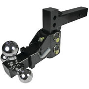 2 Inch Receiver Tube Adjustable Height Tri-ball Boat Trailer Tow Hitch