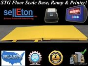 48 X 48 Floor Scale With Ramp 2000 Lbs X .5 Lb With Printer Industrial Pallet