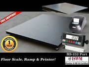 48 X 72 4' X 6' Floor Scale With Ramp And Printer L 10,000 Lbs X 1 Lb