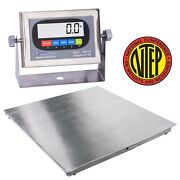 Ntep / Legal Stainless Steel Floor Scale Wash Down 24x24 2and039x2and039 1000 X .2 Lb