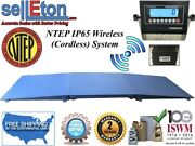 Ntep Floor Scale 48 X 96 4and039 X 8and039 2000 Lbs X .5 Lb Wireless Cordless + 2 Ramp