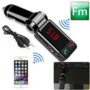 Car Charger Adapter Dual Usb Fm Transmitter Mp3 Player Bluetooth Aux For Iphone