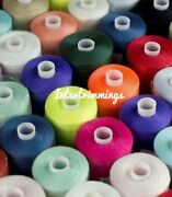 120's Cotton Thread Polyester, Mixed Pack Assorted Cols- Pack Of 10/25/50/100+