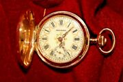 Rare Antique 1889 Paris Exhibition Billodes Zenith Rose Gold Ladies Pocket Watch