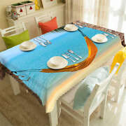 Seaside Hammock 3d Tablecloth Table Cover Cloth Rectangle Wedding Party Banquet