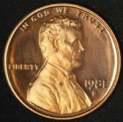 1981 1c Proof Clear S Lincoln Cent - Free Shipping Usa