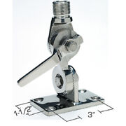 Deck Mount Vhf Radio Stainless Steel Marine Antenna Ratchet Mount For Boats