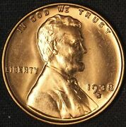 1938-s 1c Lincoln Cent Wheat Penny - Free Shipping Usa