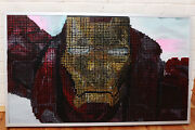 Custom 3d Portrait Artwork Of Iron Man Made Entirely Out Of Screws