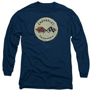 Chevrolet Old Corvette Licensed Menand039s Long Sleeve Graphic Tee Shirt Sm-3xl