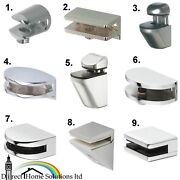 Hafele Shelf Support Polished Chrome Brackets Clamps For Glass And Wooden Shelves