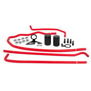 Mishimoto Baffled Red Oil Catch Can For 15 Subaru Wrx