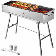 Bbq Charcoal Grill 32and039and039 Party Griller Stainless Steel Bbq Garden Camping Grill