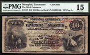 10 1882 Brown Back National Bank Of Commerce Memphis Tennessee Ch 5056 Rare