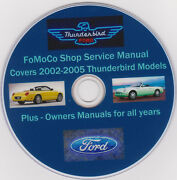 Ford Thunderbird -2002 -2005 Fomoco Shopservicemanual- Plus Owners Manuals