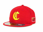 China Men's New Era 59fifty World Baseball Classic Fitted Hat Cap - Red