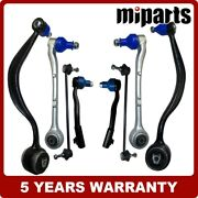 New Control Arms Ball Joint Sway Bar Tie Rod Kit 8pcs Fit For Bmw E38 740i 740il